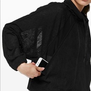 Lululemon In Depth Black Lace Lightweight Jacket